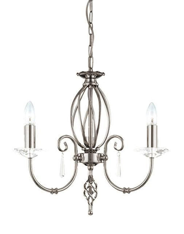 Elstead AG3 POL NICKEL Aegean 3Lt Chandelier Polished Nickel