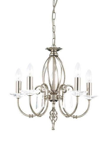 Elstead AG5 POL NICKEL Aegean 5Lt Chandelier Polished Nickel