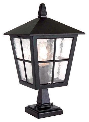 Elstead BL50M BLACK Hereford Porch Pedestal lantern