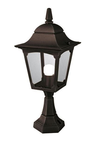 Elstead CP4 BLACK Chapel Pedestal Lantern Black