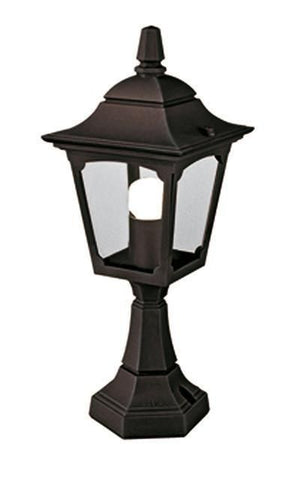 Elstead CPM4 BLACK Chapel Mini Pedestal Lantern Black