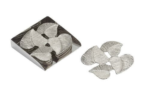 Endon EH-IVES-COASTER Set Of 4 Nickel Plated Coasters