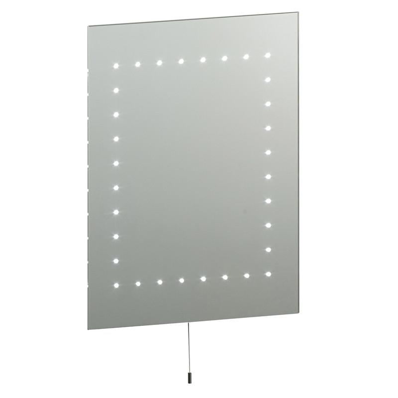 Endon Lighting 13758 Mareh Mirror IP44 2.5W Mirrored Glass & Matt Silver Effect Paint-Endon Lighting-DC Lighting Ltd