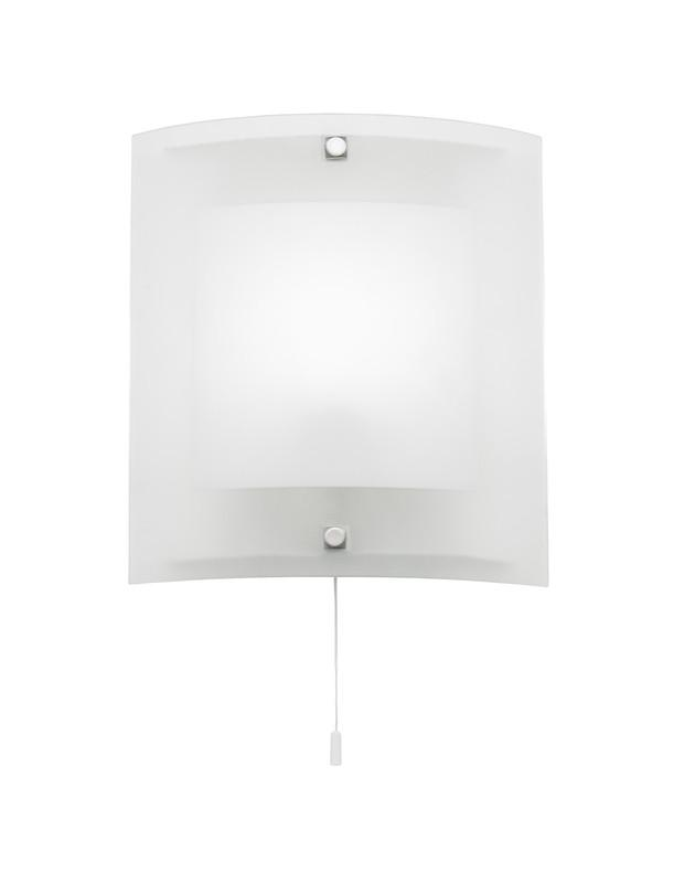 Endon Lighting 143-WB Blake 1lt Wall Light 60W Clear & Frosted Glass With Chrome Effect Plate-Endon Lighting-DC Lighting Ltd