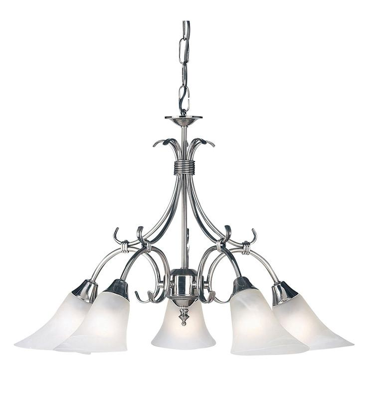 Endon Lighting 144-5AS Hardwick 5lt Pendant 40W Antique Silver Effect Plate & Frosted Glass-DC Lighting Ltd