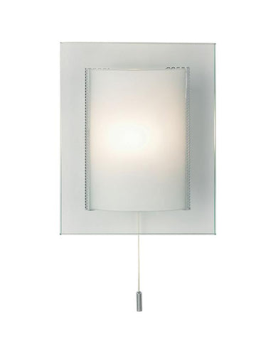 Endon Lighting 2011-WB Cabot 1lt Wall Light 33W Clear & Frosted Glass