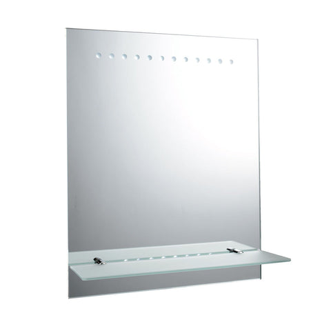 Endon Lighting 61596 Taro Battery Operated Mirror IP44 1.5W Mirrored Glass & Matt Silver Effect Paint