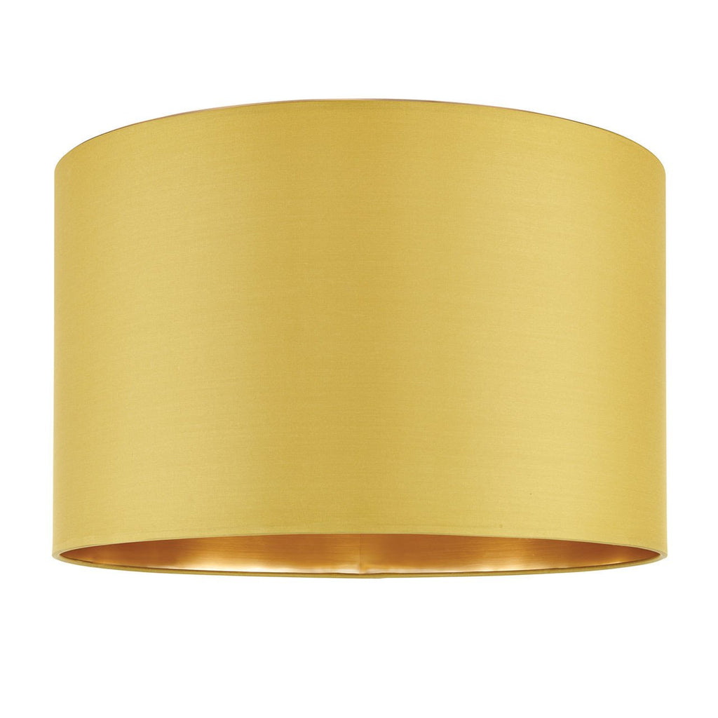 Endon Lighting 67944 Boutique 16 inch Chartreuse Silk & Brushed Gold-Endon Lighting-DC Lighting Ltd