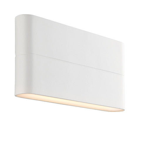 Endon Lighting 69930 Hanford 2lt Wall Light IP44 6W Textured Matt White Paint & Frosted Polycarbonate