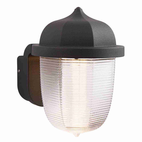 Endon Lighting 70192 Heath 1lt Wall Light IP44 7W Textured Black Paint & Frosted Polycarbonate