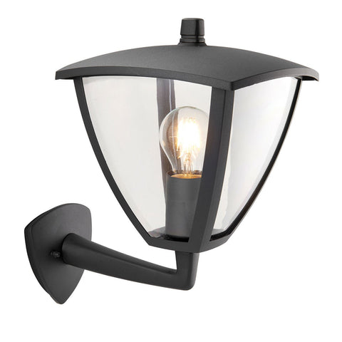 Endon Lighting 70695 Seraph 1lt Wall Light IP44 40W Textured Grey Paint & Clear Polycarbonate