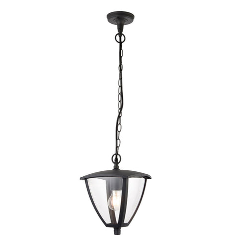 Endon Lighting 70696 Seraph 1lt Pendant IP44 40W Textured Grey Paint & Clear Polycarbonate