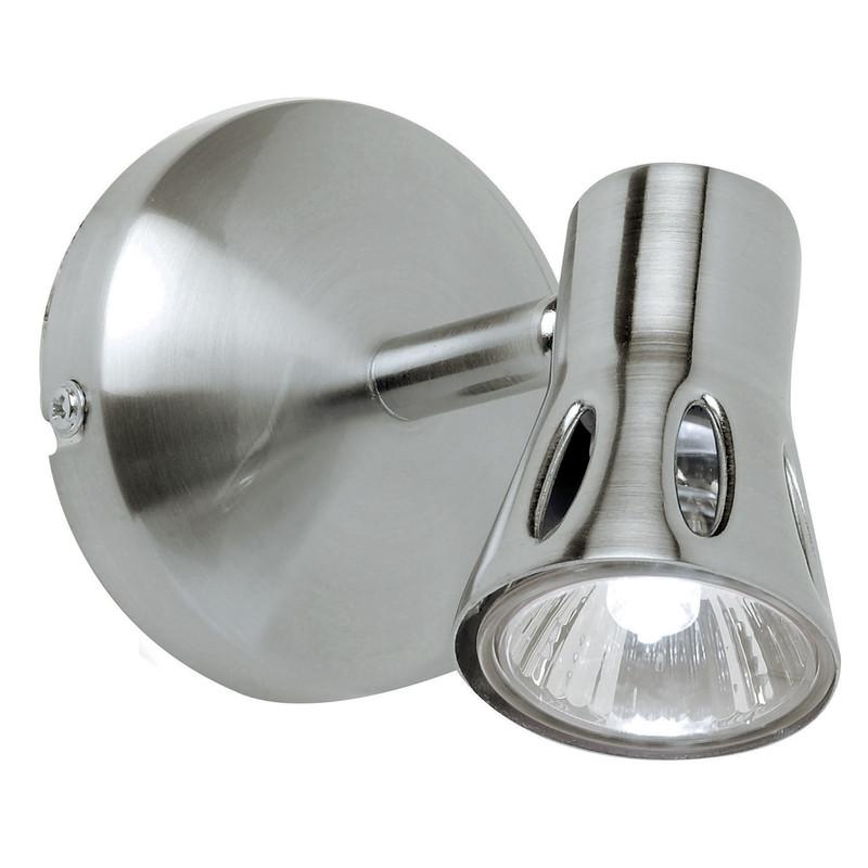 Endon Lighting 811-SC Krius 1lt Plate 50W Satin Chrome Effect Plate-Endon Lighting-DC Lighting Ltd