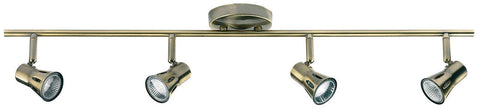 Endon Lighting 814-AN Krius 4lt Bar 50W Antique Brass Effect Plate