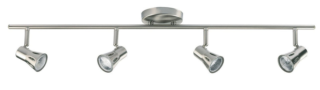 Endon Lighting 814-SC Krius 4lt Bar 50W Satin Chrome Effect Plate-Endon Lighting-DC Lighting Ltd