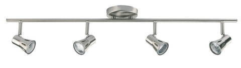 Endon Lighting 814-SC Krius 4lt Bar 50W Satin Chrome Effect Plate