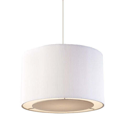 Endon Lighting 96043-WH Colette Non Electric 60W White Fabric & Chrome Effect Plate