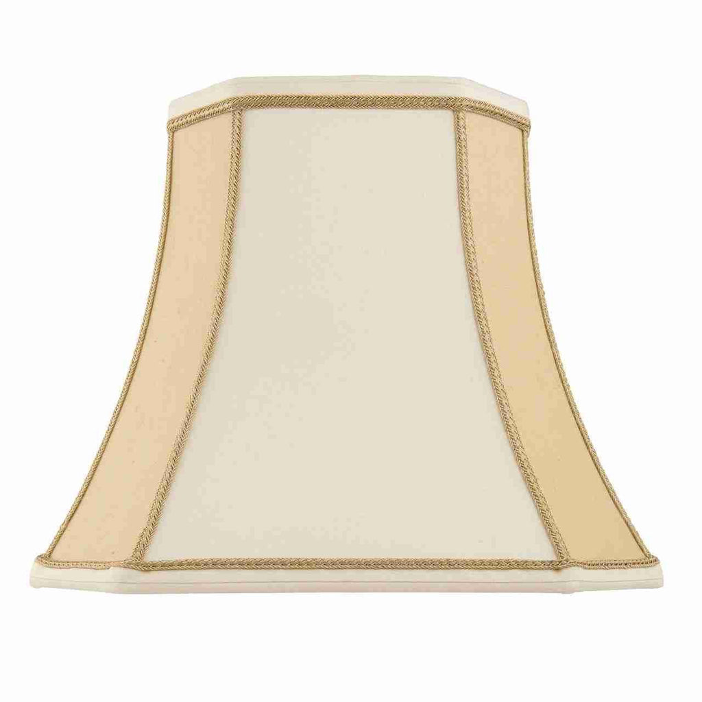 Endon Lighting CAMILLA-16 Camilla 16 inch Two-Tone Cream Faux Silk-Endon Lighting-DC Lighting Ltd