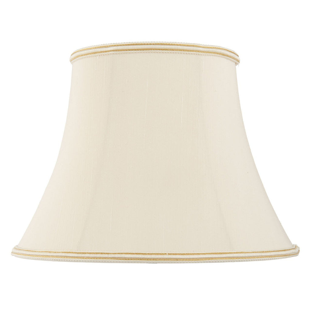 Endon Lighting CELIA-12 Celia 12 inch Cream Faux Silk-DC Lighting Ltd