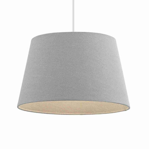 Endon Lighting CICI-10GRY Cici 10 inch Grey Linen Effect