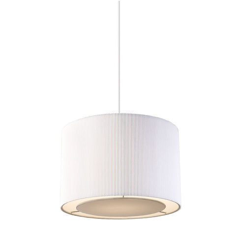 Endon Lighting COLETTE-S-WH Colette Non Electric 60W White Fabric & Chrome Effect Plate