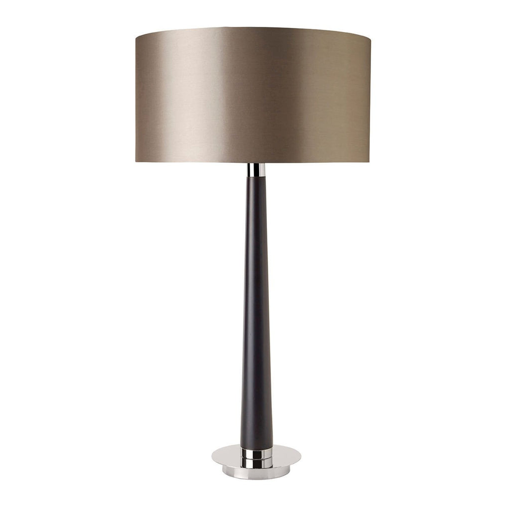 Endon Lighting CORVINA Corvina Table Lamp 60W Walnut Effect Wood & Mink Faux Silk-Endon Lighting-DC Lighting Ltd