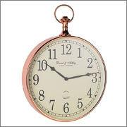 Endon Lighting EH-ARMSTRONG Wall Clock In Shiny Copper