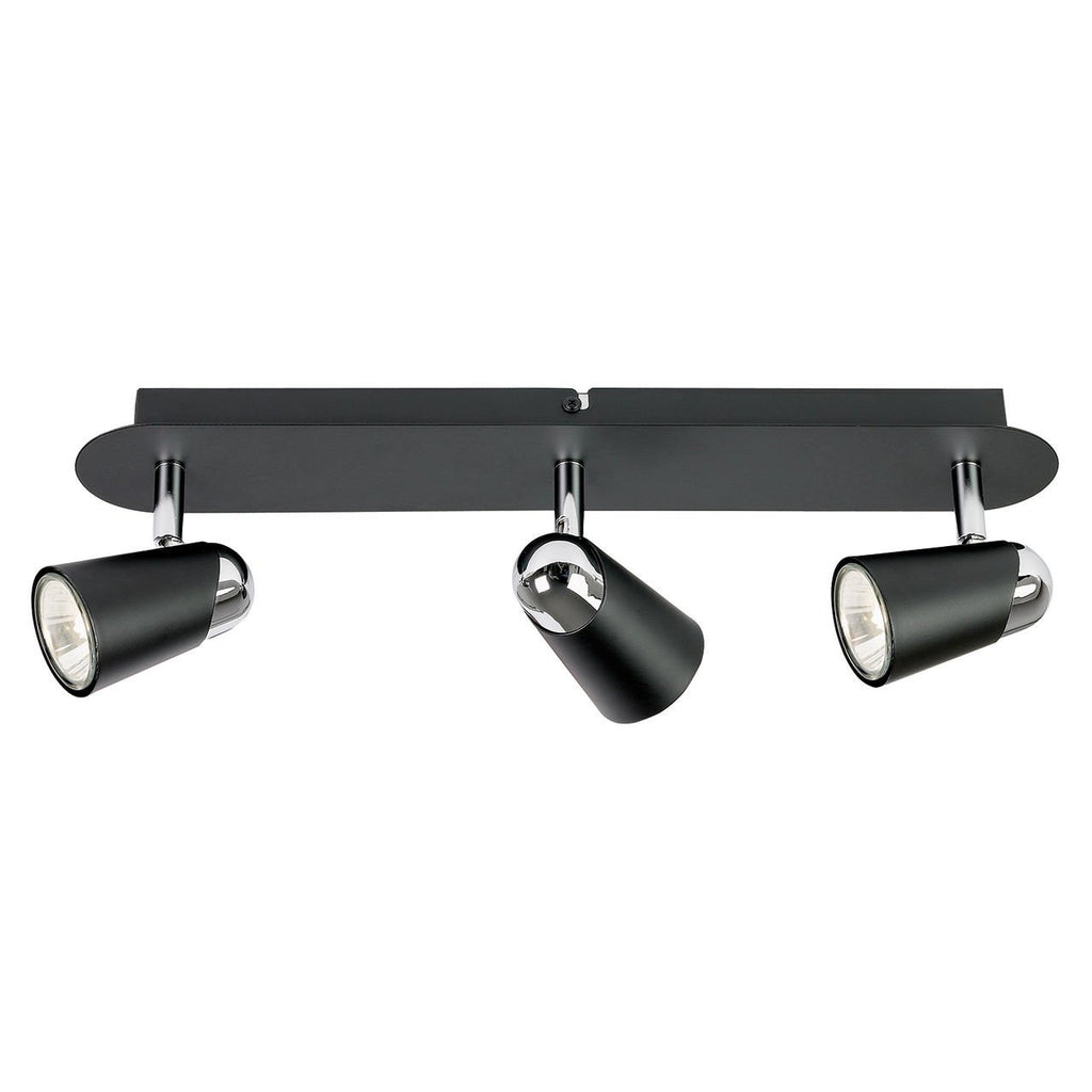 Endon Lighting EL-10054 Civic 3lt Plate 50W Matt Black & Chrome Effect Plate-Endon Lighting-DC Lighting Ltd