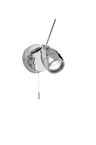 Endon Lighting EL-20107 Travis 1lt Plate IP44 28W Chrome Effect Plate & Clear Glass
