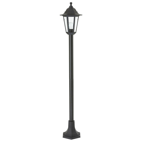 Endon Lighting EL-40047 Bayswater Lamp Post IP44 60W Black Polypropylene & Clear Glass