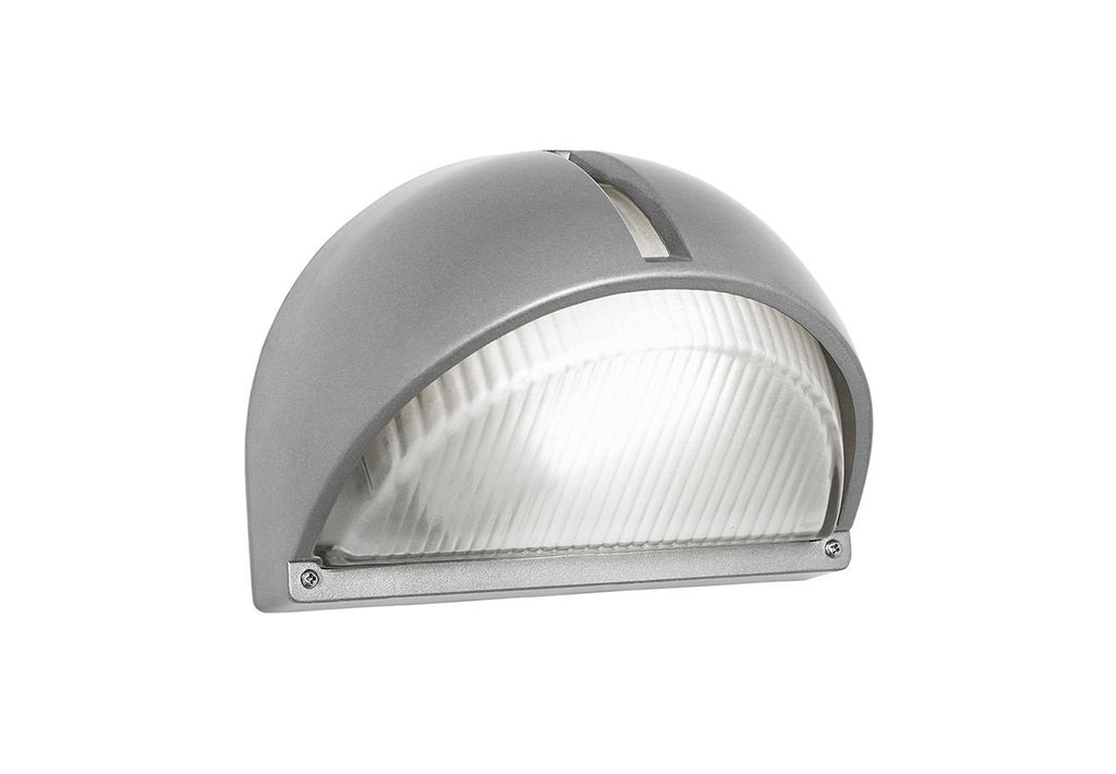 Endon Lighting EL-YG-5007 Eyot 1lt Wall Light HF IP44 10W Aluminium & Frosted Glass-Endon Lighting-DC Lighting Ltd