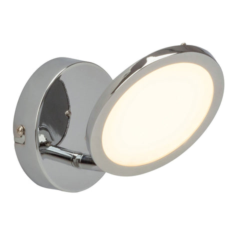Endon Lighting G3051015 Pluto 1lt Plate 5W Chrome Effect Plate & Opal Plastic