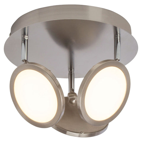 Endon Lighting G3053413 Pluto 3lt Round 5W Satin Nickel Effect Plate & Opal Plastic