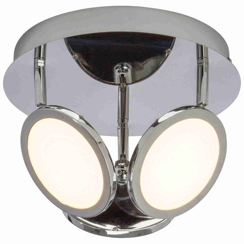 Endon Lighting G3053415 Pluto 3lt Round 5W Chrome Effect Plate & Opal Plastic