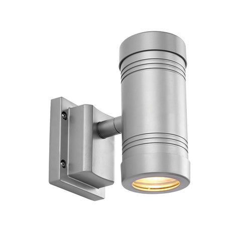 Endon Lighting GD-710 Gigo 2lt Wall Light IP55 5W Aluminium & Clear Glass