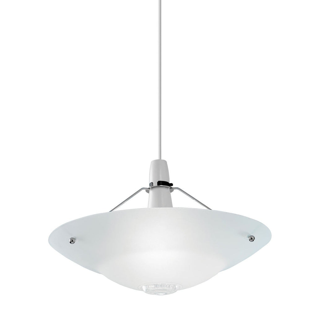 Endon Lighting NE-81 Pisa Non Electric 60W Clear And Frosted Glass Detail & Chrome Effect Plate-DC Lighting Ltd