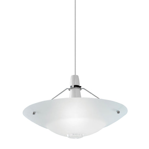 Endon Lighting NE-81 Pisa Non Electric 60W Clear And Frosted Glass Detail & Chrome Effect Plate