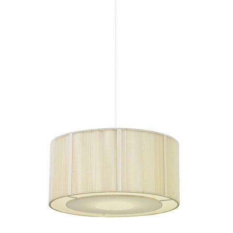 Endon Lighting NE-92-CR Darlington Non Electric 60W Cream String & Cream Fabric
