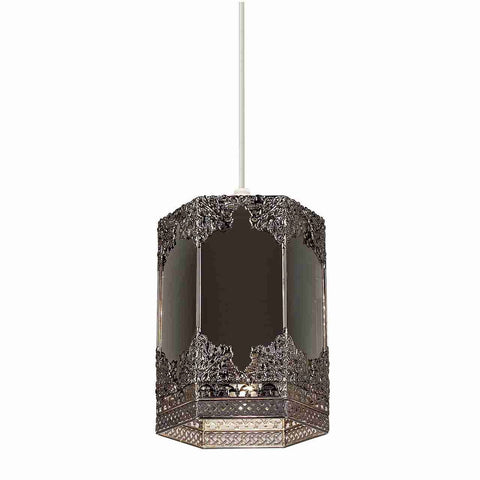 Endon Lighting NE-96061 Morro Non Electric 60W Mirrored Glass & Pewter Effect Plate