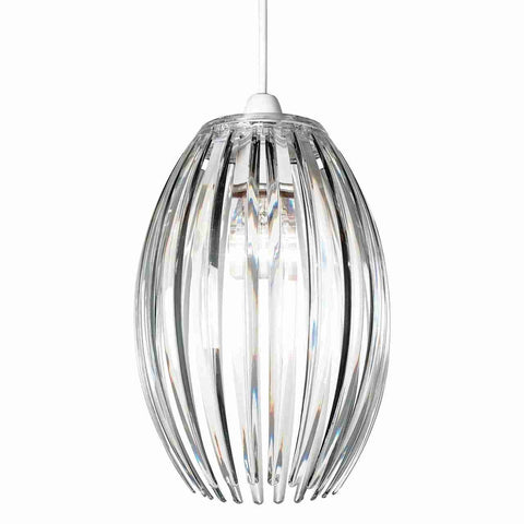 Endon Lighting NE-DORNEY-CL Dorney Non Electric 60W Clear Acrylic