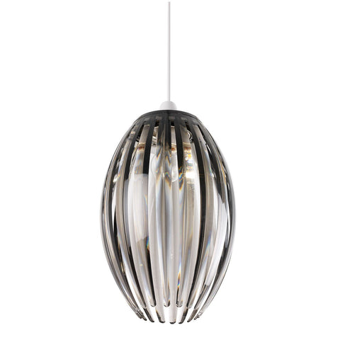 Endon Lighting NE-DORNEY-SMK Dorney Non Electric 60W Smokey Acrylic