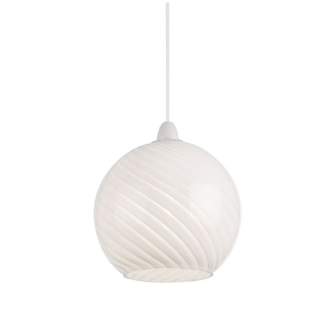 Endon Lighting NE-LOWTHER-WH Lowther Non Electric 60W Patterned Gloss White Glass