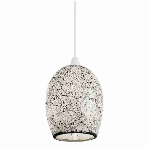 Endon Lighting NE-WINDSOR-WH Windsor Non Electric 60W Mosaic White Glass
