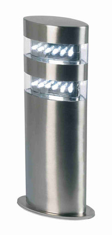Endon Lighting YG-4002-SS Radian Post IP44 1.5W Polished Stainless Steel & Clear Polycarbonate