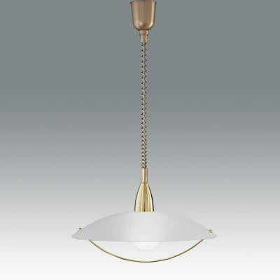 Fabas Luce 2155-40-119 Savona Suspension Lamp Satin Brass