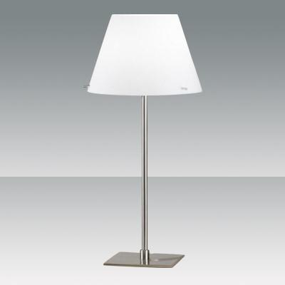 Fabas Luce 2476-35-178 Alexia Table Lamp Small Satin Nickel-Fabas Luce-DC Lighting Ltd