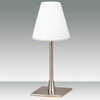 Fabas Luce 2500-30-178 Lucy Table Lamp Satin Nickel White Glass-Fabas Luce-DC Lighting Ltd