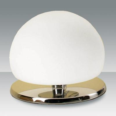 Fabas Luce 2513-30-138 Morgana Table Lamp Chrome White Glass