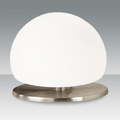 Fabas Luce 2513-30-178 Morgana Table Lamp Satin Nickel White Glass