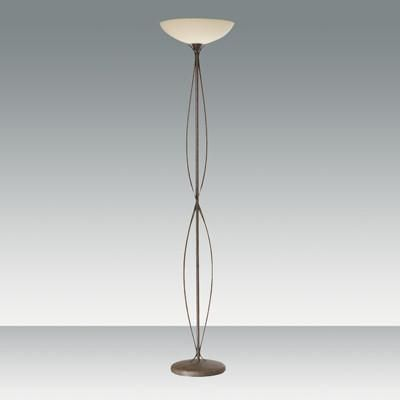 Fabas Luce 3043-10-171 Quebec Floor Lamp Rust Coloured Scavo Glass-Fabas Luce-DC Lighting Ltd